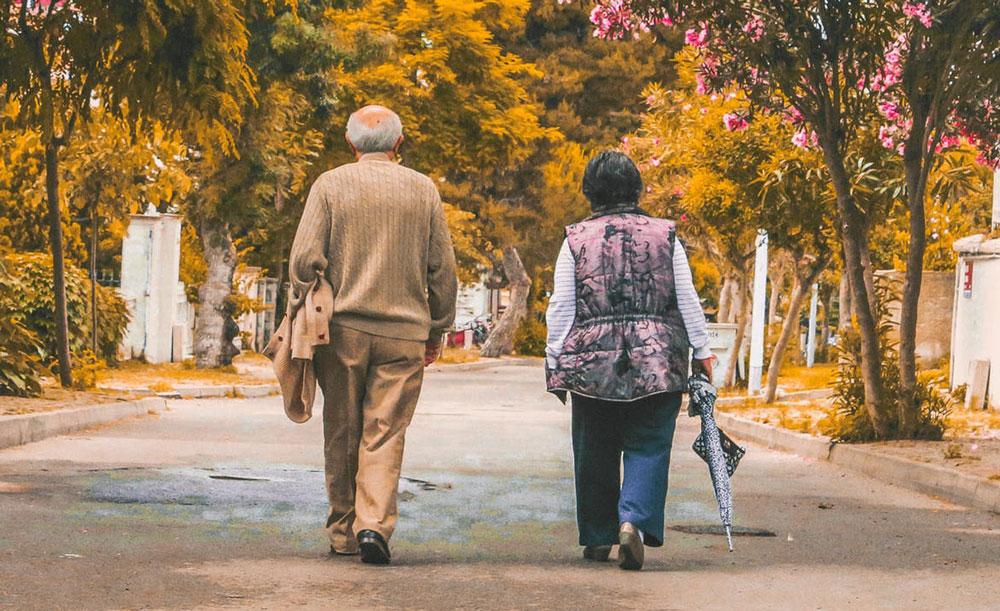 Couple walking strong bones